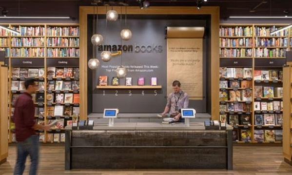 Amazon opens its first physical bookstore Amazon Books in Seattle