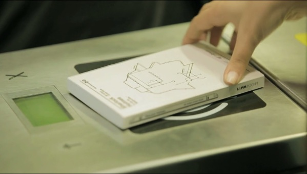 Book that acts as a subway ticket