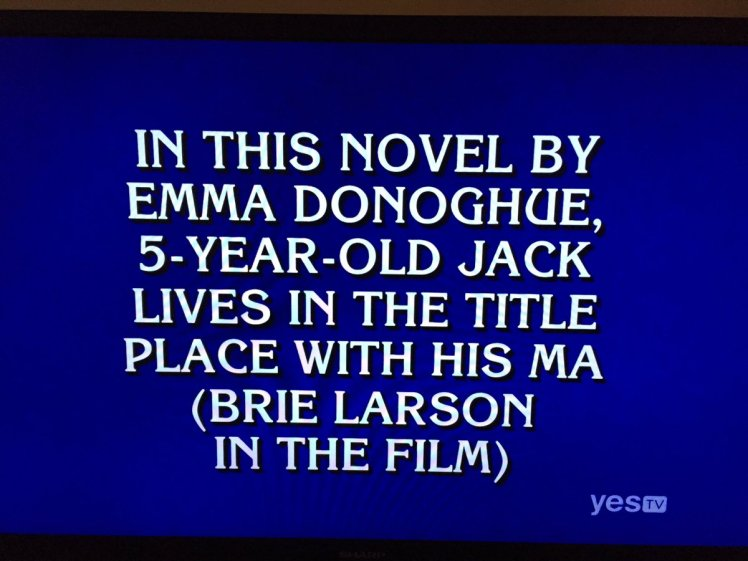 Jeopardy Brie Larson Jacob Tremblay Emma Donoghue Clue