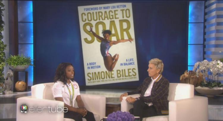 gymnast-simone-biles-courage-to-soar-autobiography-memoir-ellen-show