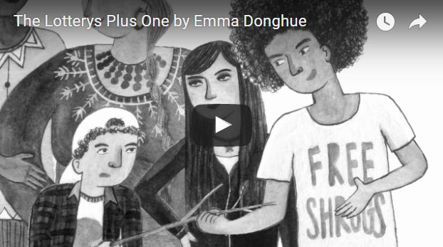 The Lotterys Plus One Book trailer screen capture Emma Donoghue