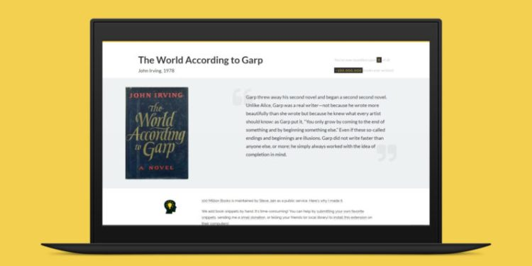 100-Million-Books-Chrome Extension Book Recommendation