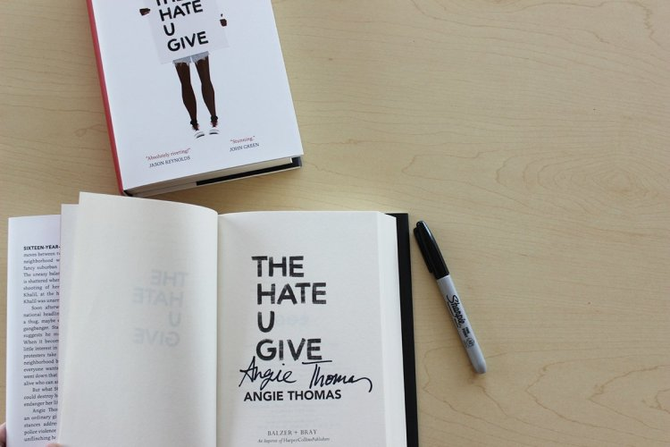 The Hate U Give Angie Thomas Signed Book Giveaway