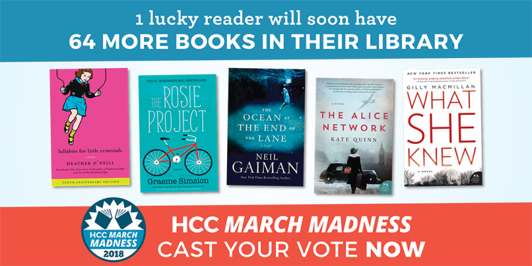 HCC March Madness 64 Book Giveaway