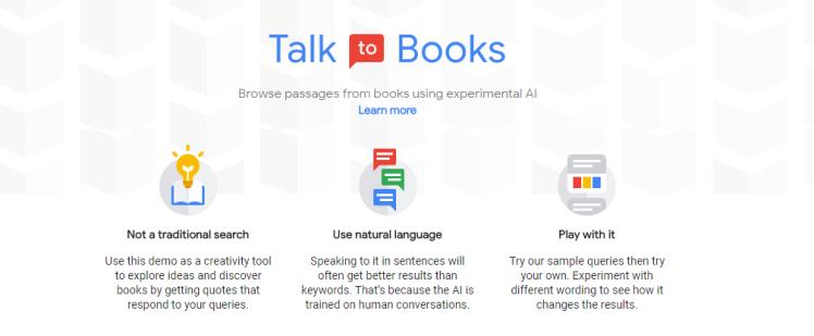 Google Tool Talk to Books